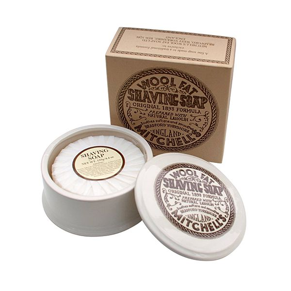 MITCHELL'S Shaving soap, in its ceramic bowl