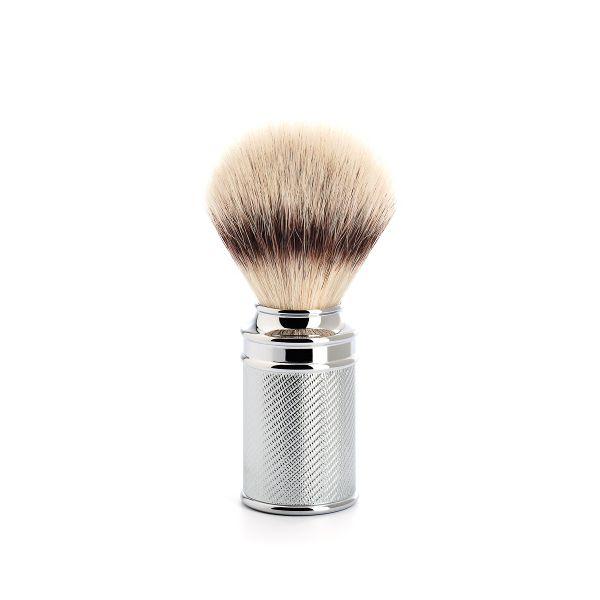 """MÜHLE Blaireau pur-argenté """"TRADITIONAL"""" 21mm - chromé métallique/chromés"""