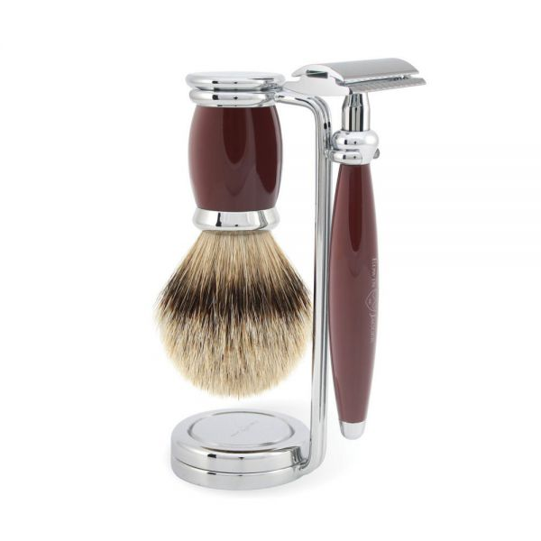 "EDWIN JAGGER Shaving set ""Bulbous Red"""