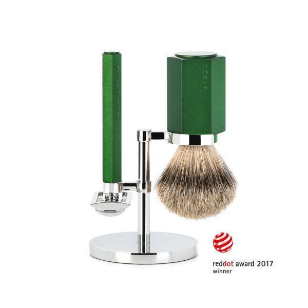 "MÜHLE Shaving set ""HEXAGON"" 3 pieces"
