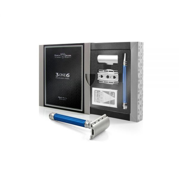 EDWIN JAGGER Safety razor 3ONE6 Blue - razor + box